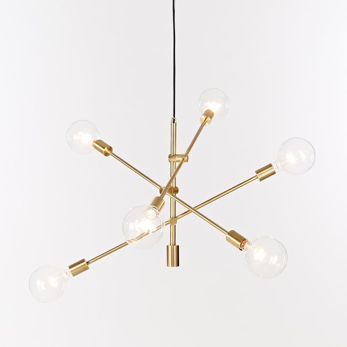 Mobile Chandelier Gold Adjustable Arms Contemporary ...