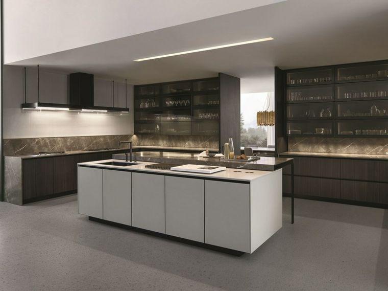 cocinas integrales blancas modernas Interiores para cocina Pinterest - Cocinas Integrales Blancas