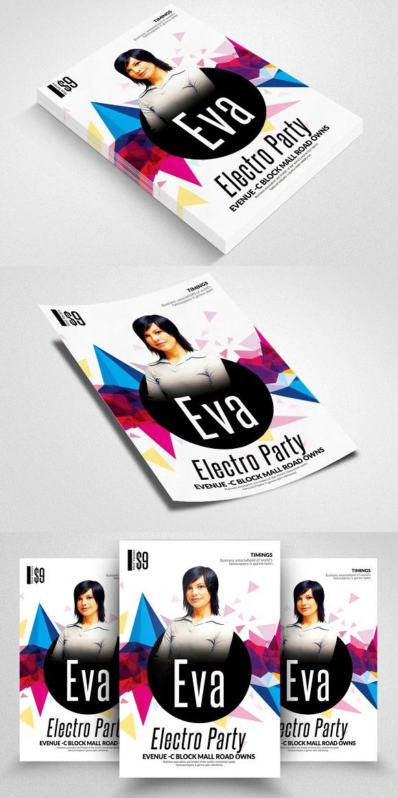 Electro Flyer Templates | Flyer template, Party flyer and Template
