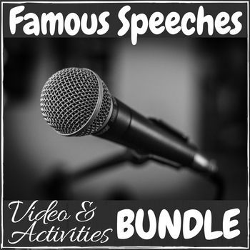 Famous Speeches - Video & Activities Growing Bundle #famousspeeches
