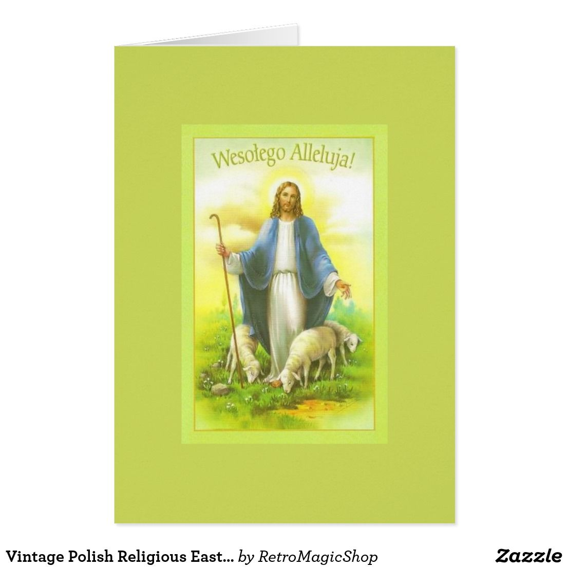 Vintage Polish Religious Easter Greeting Card Pinterest Easter