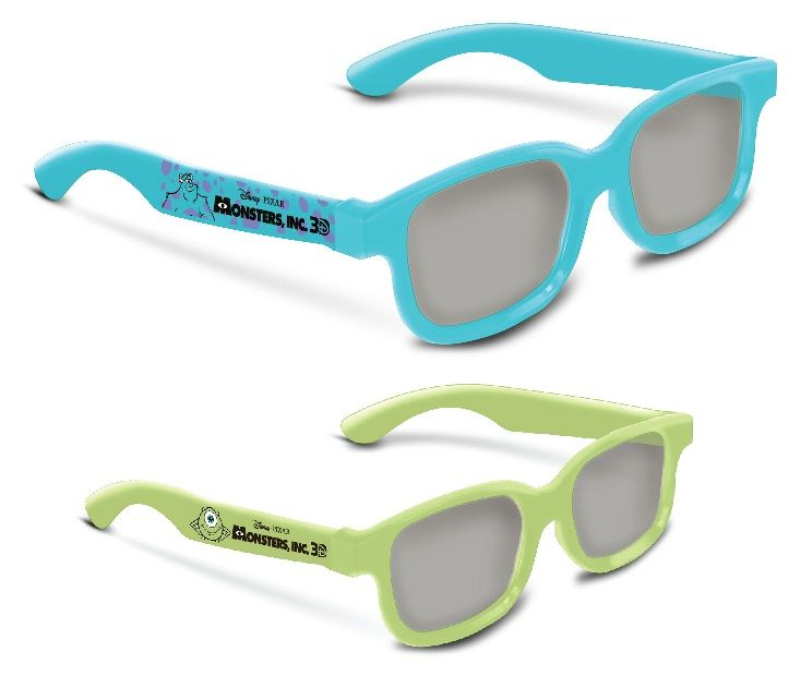 Check out these special edition Monsters Inc 3D RealD 3D Glasses!