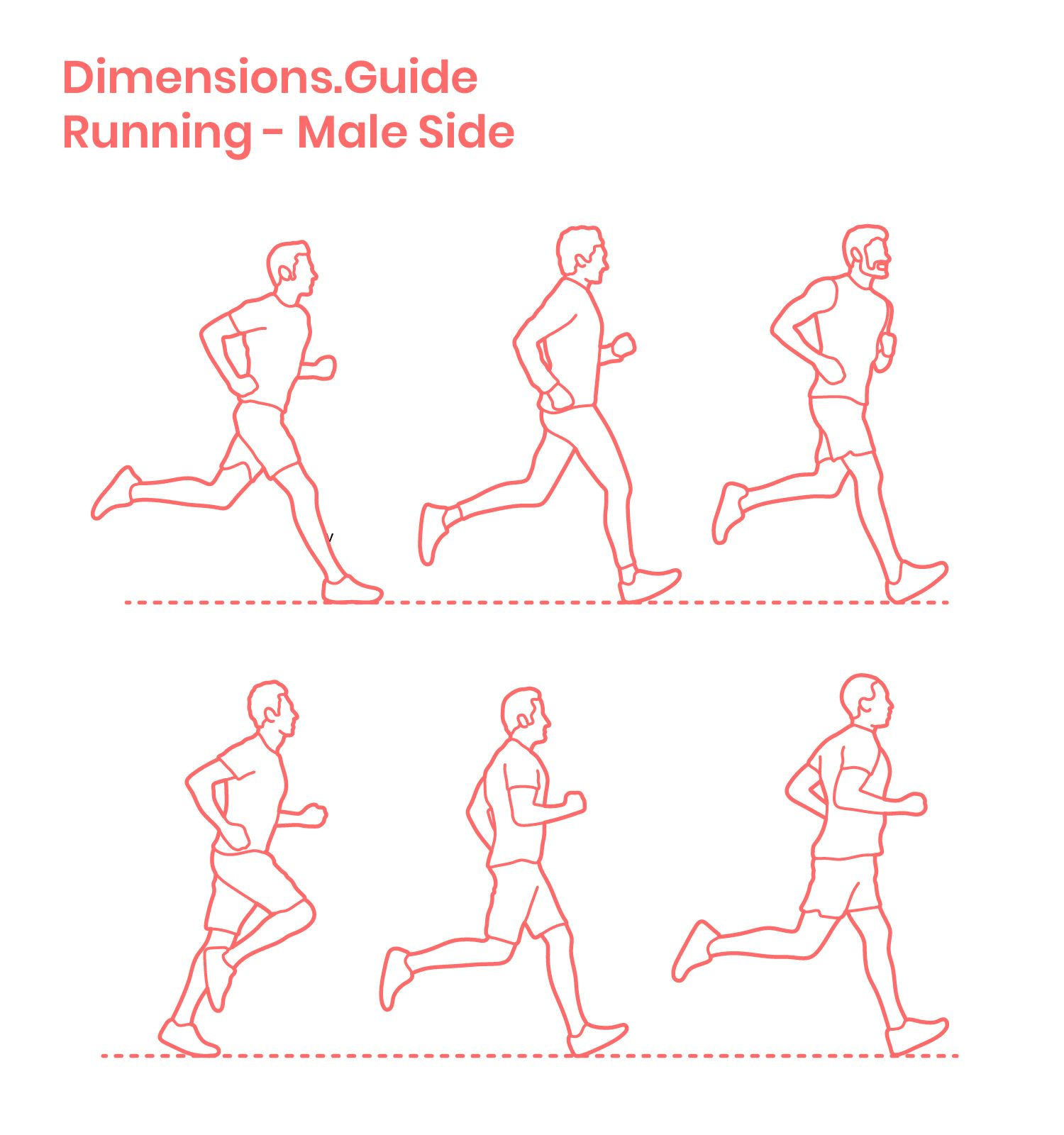 Running Side Male Running Pose Running Illustration Person Drawing