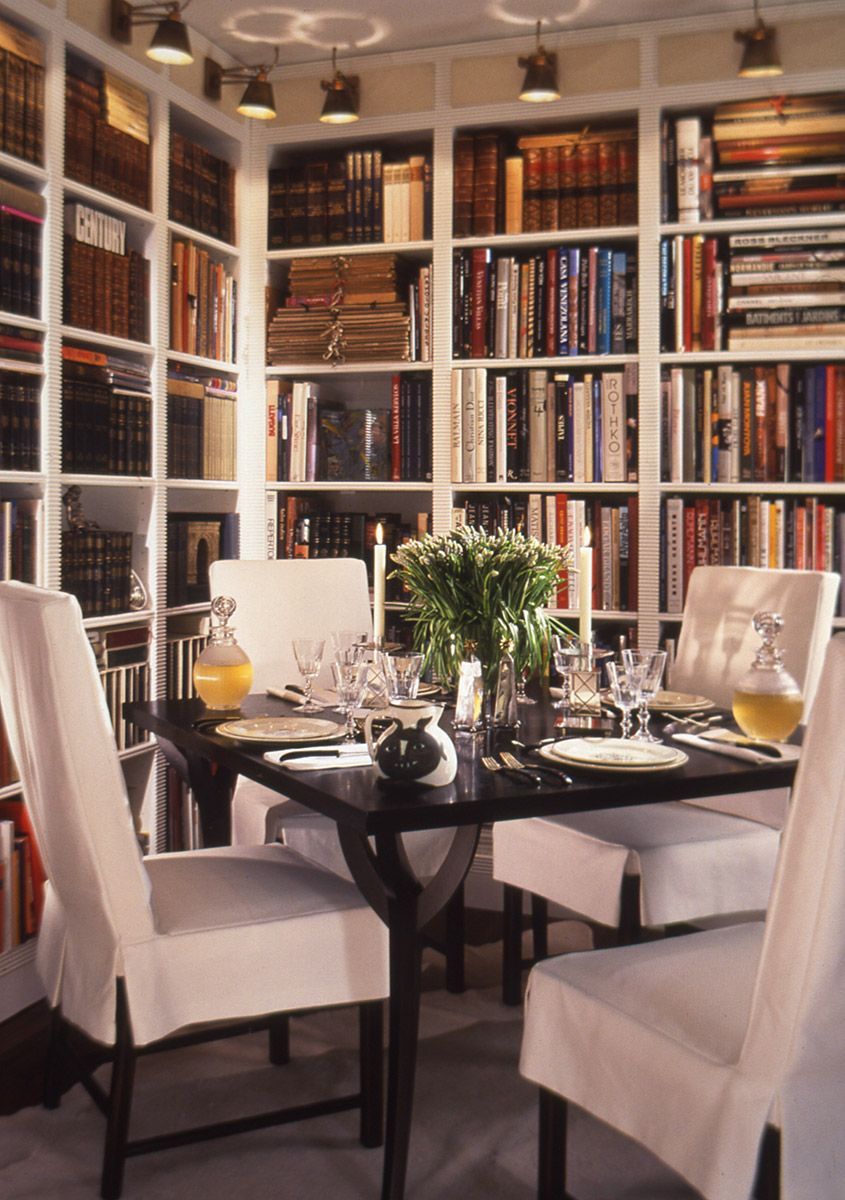 Pin On Living With Books Dining room librariesbeautiful and