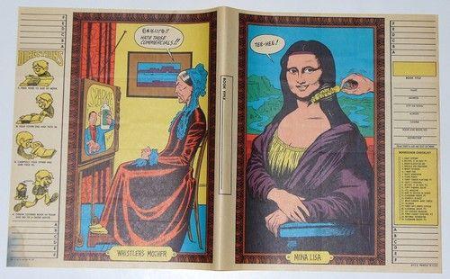 1968 Topps Batty Book Cover 9 Scarce Funny Famous Paintings No 1 Mona Lisa | eBay