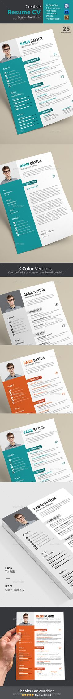 Resume Template PSD, AI #design Download: Http://graphicriver.net/item/ Resume/13152455?refu003dksioks
