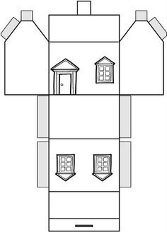 free 3d house templates google search paper houses pinterest