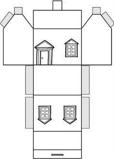 paper house pattern - Parfu kaptanband co