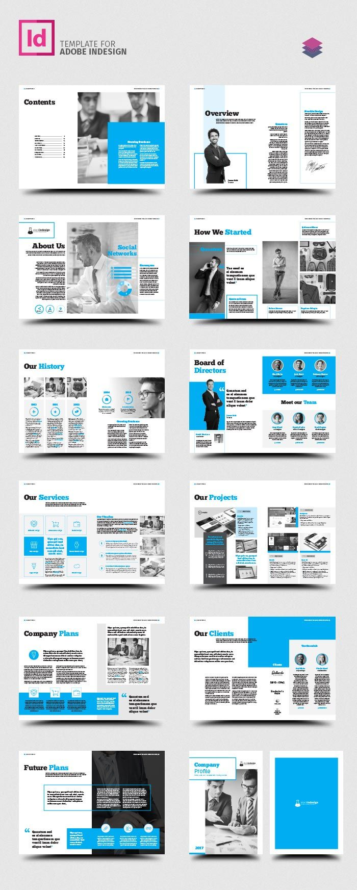 Company profile template all work and no play pinte company profile template more corporate cheaphphosting Choice Image