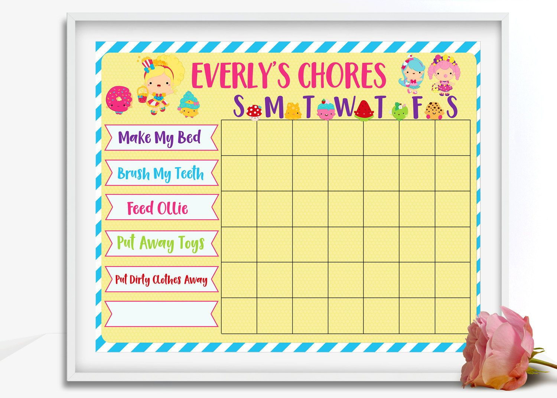 Chore Chart Printable Chore Chart Blank Chore Chart Kids Chore – Blank Reward Chart