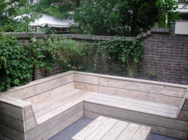 Seating home garden decoration pinterest tuin for Moderne loungebank tuin