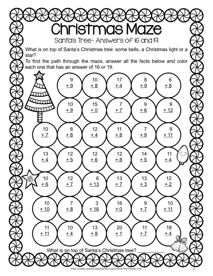 Christmas Math Activities Christmas Addition Worksheets And Games Christmas Addition Addition Worksheets Math Addition Worksheets