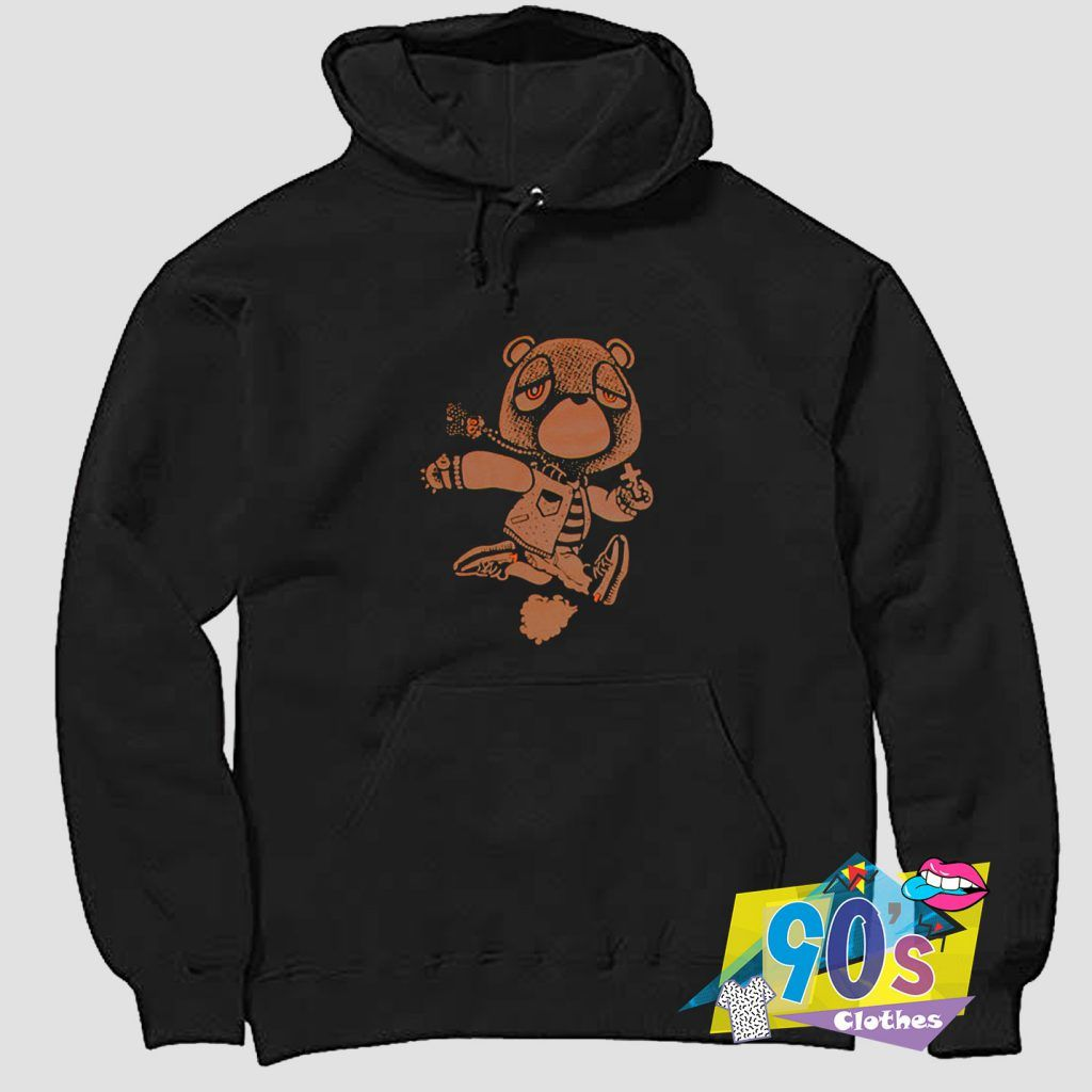Cheap Kanye West Bear Late Hoodie On Sale 90sclothes Com In 2020 Kanye West Bear Hoodies Kanye West