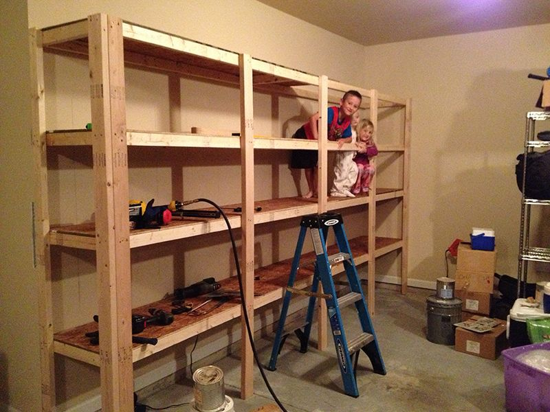 How to build sturdy garage shelves step by step instruction sturdy how to build sturdy garage shelves step by step instruction sturdy enough to double as a jungle gym for your kids solutioingenieria Gallery