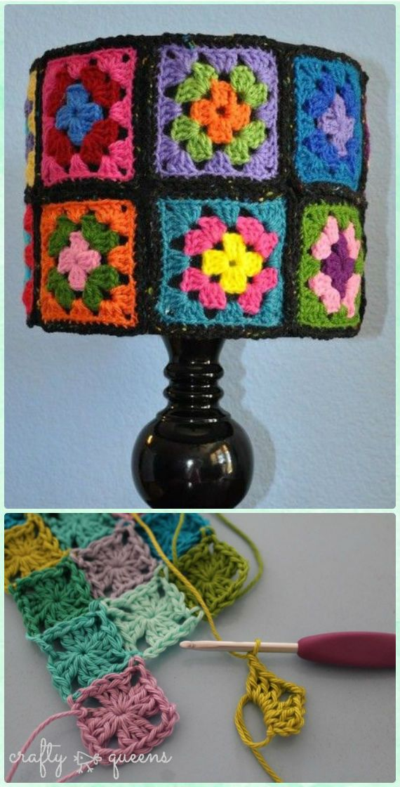 Crochet Lamp Shade Free Pattern Instructions | Ponchos, Hilo y Lana