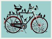 Com pássaros
