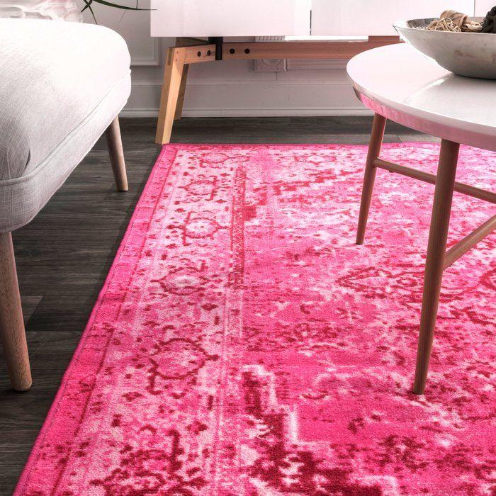 Decker Pink Area Rug In 2019 Rugs Morrocan Rug Area Rugs