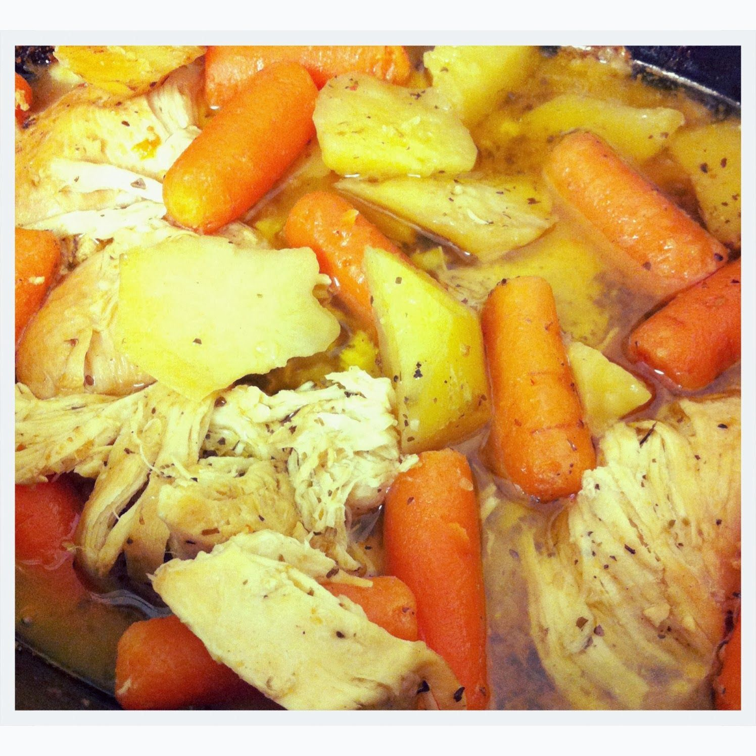 Macdonald's Playland : Recipe: Crockpot Italian Chicken Made it! The chicken was delicious, but the veggies tasted too tangy because of the salad dressing.