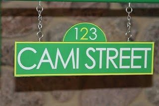 sesame street birthday custom street name sign