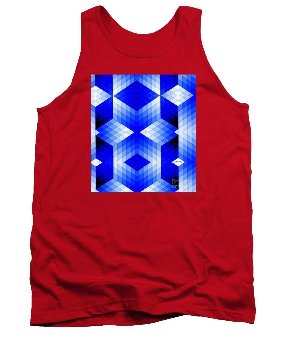 Tank Top - Geometric In Blue