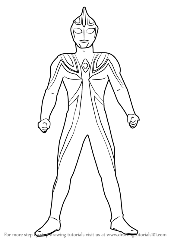 Learn How To Draw Ultraman Agul Ultraman Step By Step Drawing Tutorials Colouring Pages Drawings Drawing Tutorial