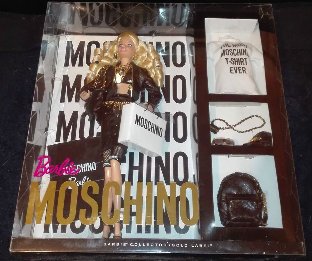 Barbie Moschino limited edition Gold Label NRFB! - nueva!