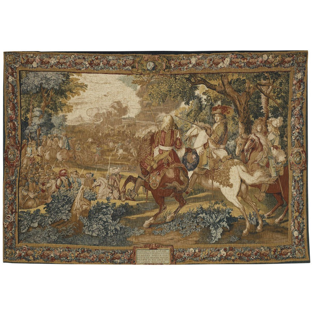 итальянский гобелен Histoire Du Roi Le Canal De Bruges Tapestries