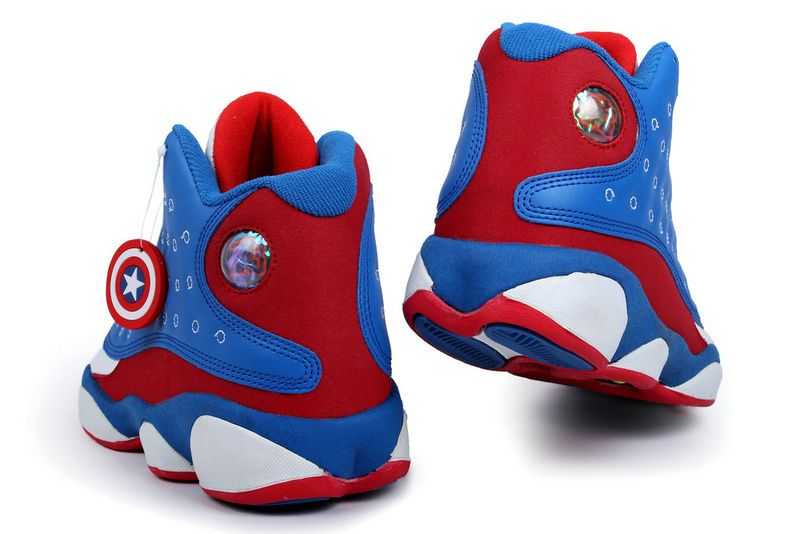 Air Jordan 13 Retro 2013 Captain America Blue Red White Mens Shoes, cheap  Jordan If you want to look Air Jordan 13 Retro 2013 Captain America Blue  Red White ...