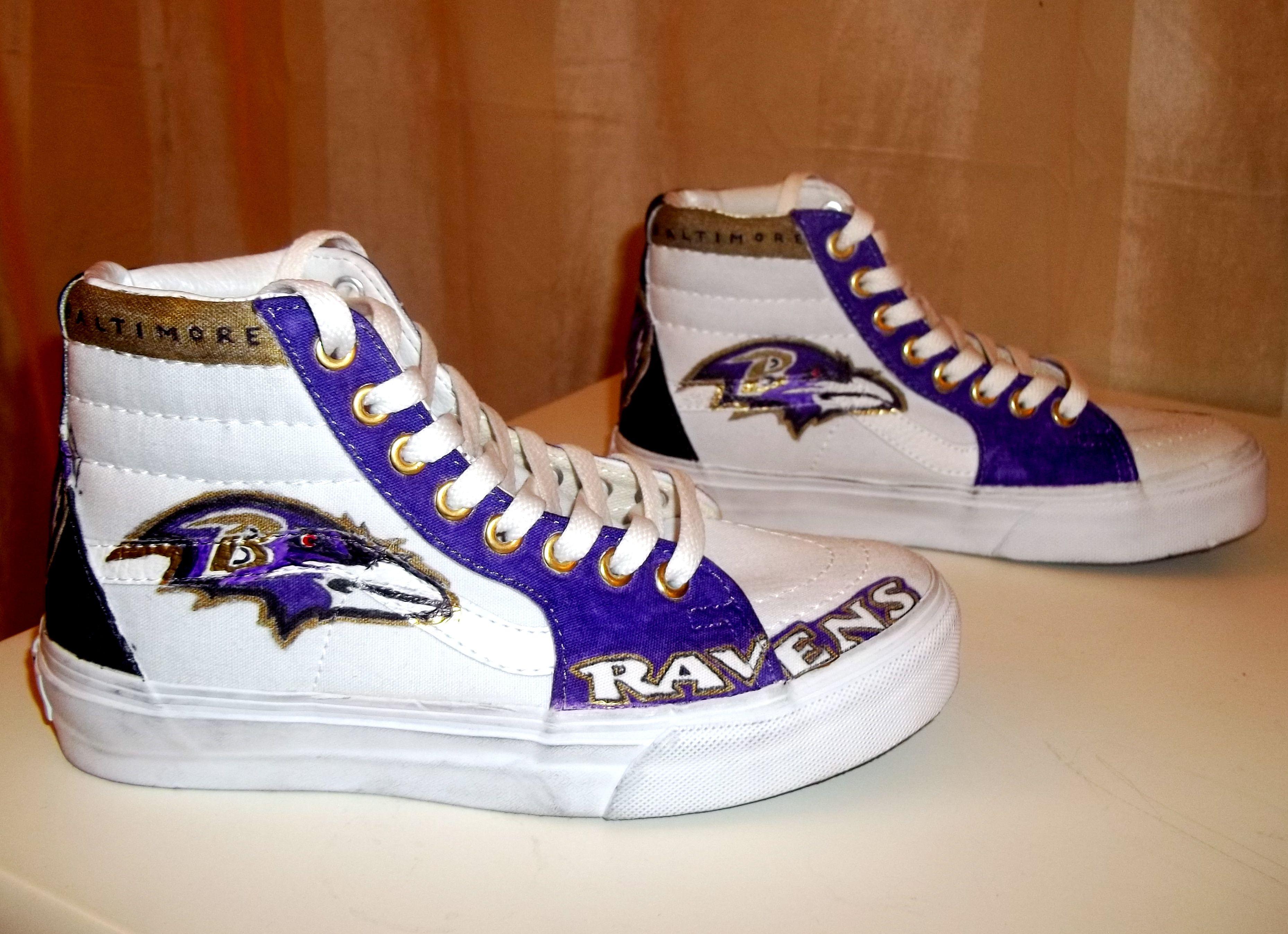 Handmade Baltimore Ravens Shoes Vans High tops u0026 Sharpie & Handmade Baltimore Ravens Shoes Vans High tops u0026 Sharpie | My ... islam-shia.org