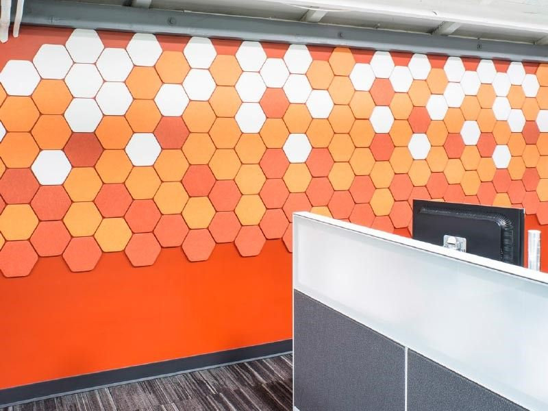 Decorative Acoustic Tiles Kirei Echopanel Tiles 5 Shapes And 20 Colors For Functional .