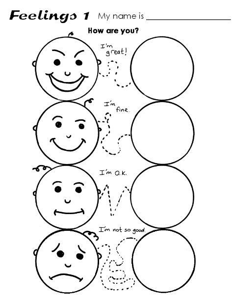 Feelings Kindergarten Worksheets Kindergarten Worksheets Printable Preschool Worksheets Free printable feelings worksheets