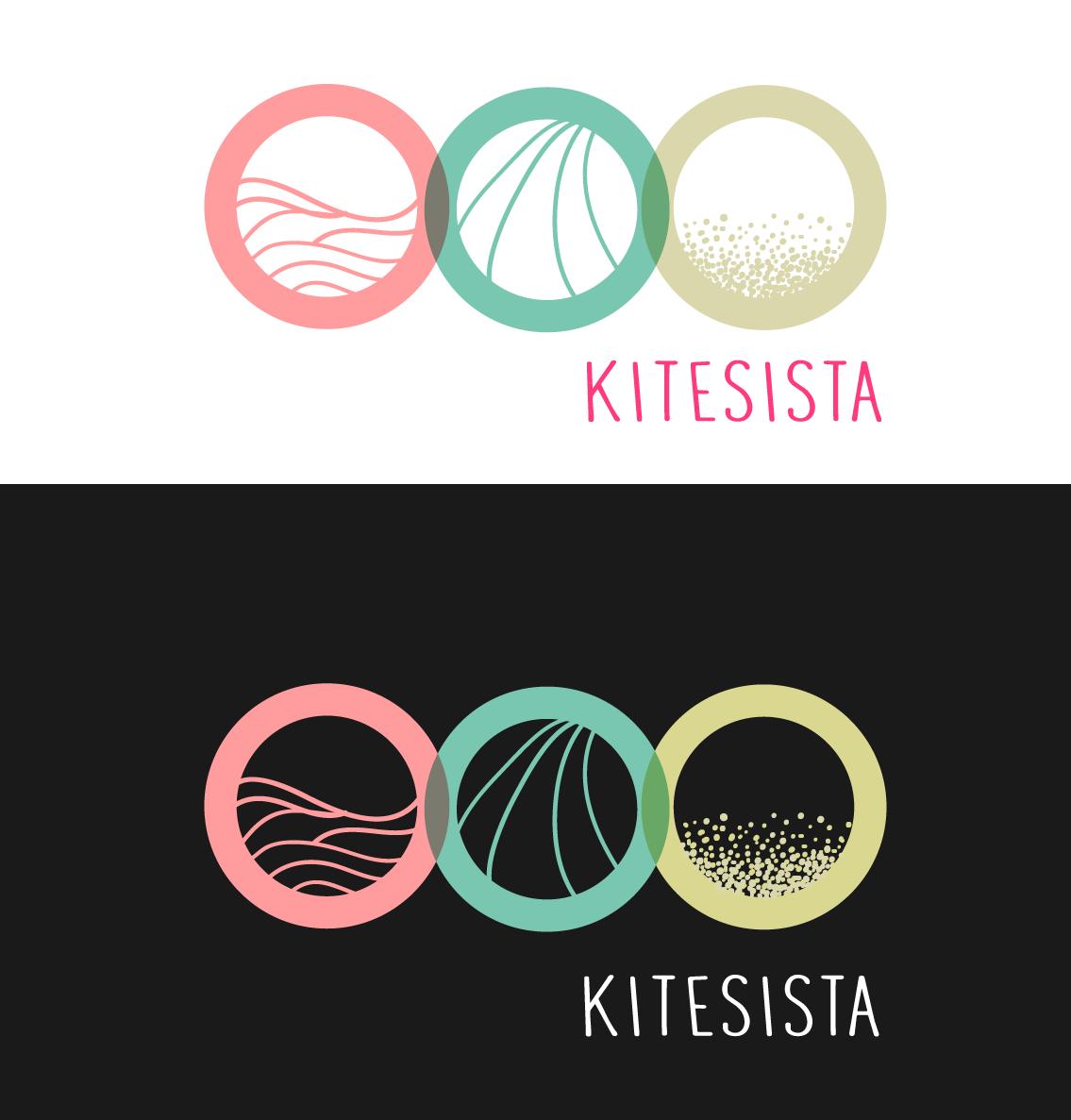 iconic logo for leading girls online kitesurf and beach lifestyle