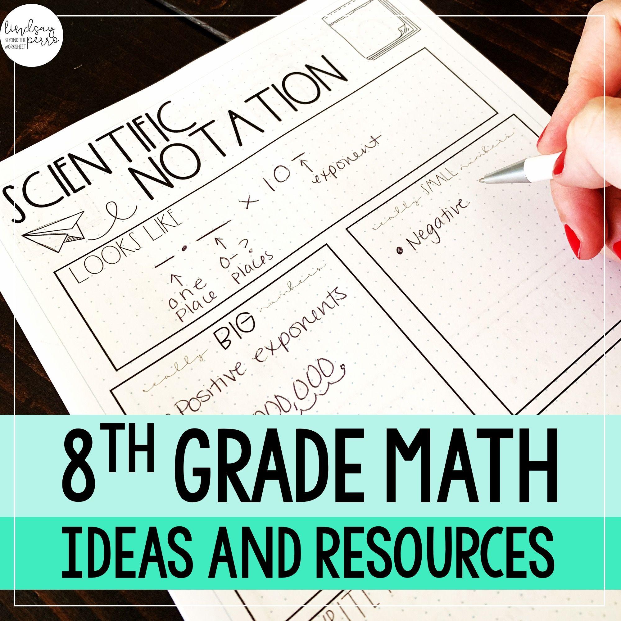8th Grade Math Pinterest Board
