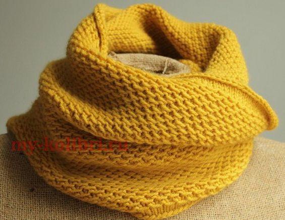 простой узор для снуда спицами вязание спицами узоры вязание