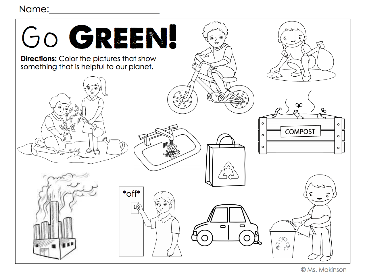 freebie earth day printables and word wall vocabulary cards