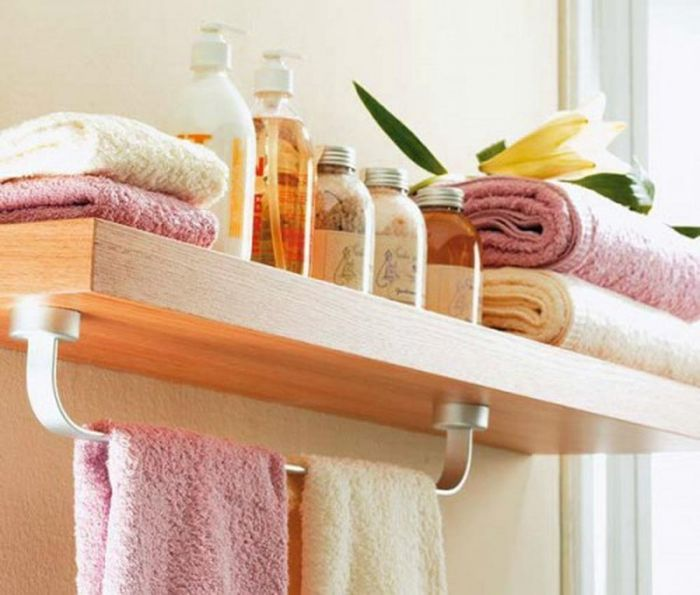 8Навесная Полка В Ванной  Idea  Pinterest Endearing Storage For Towels In Small Bathroom Design Inspiration
