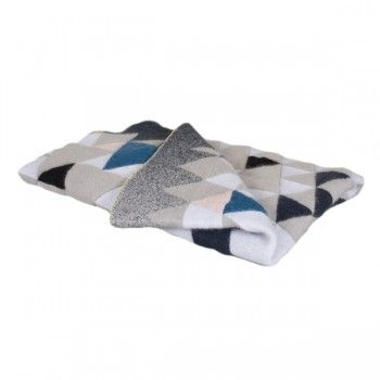 Couverture mohair triangles