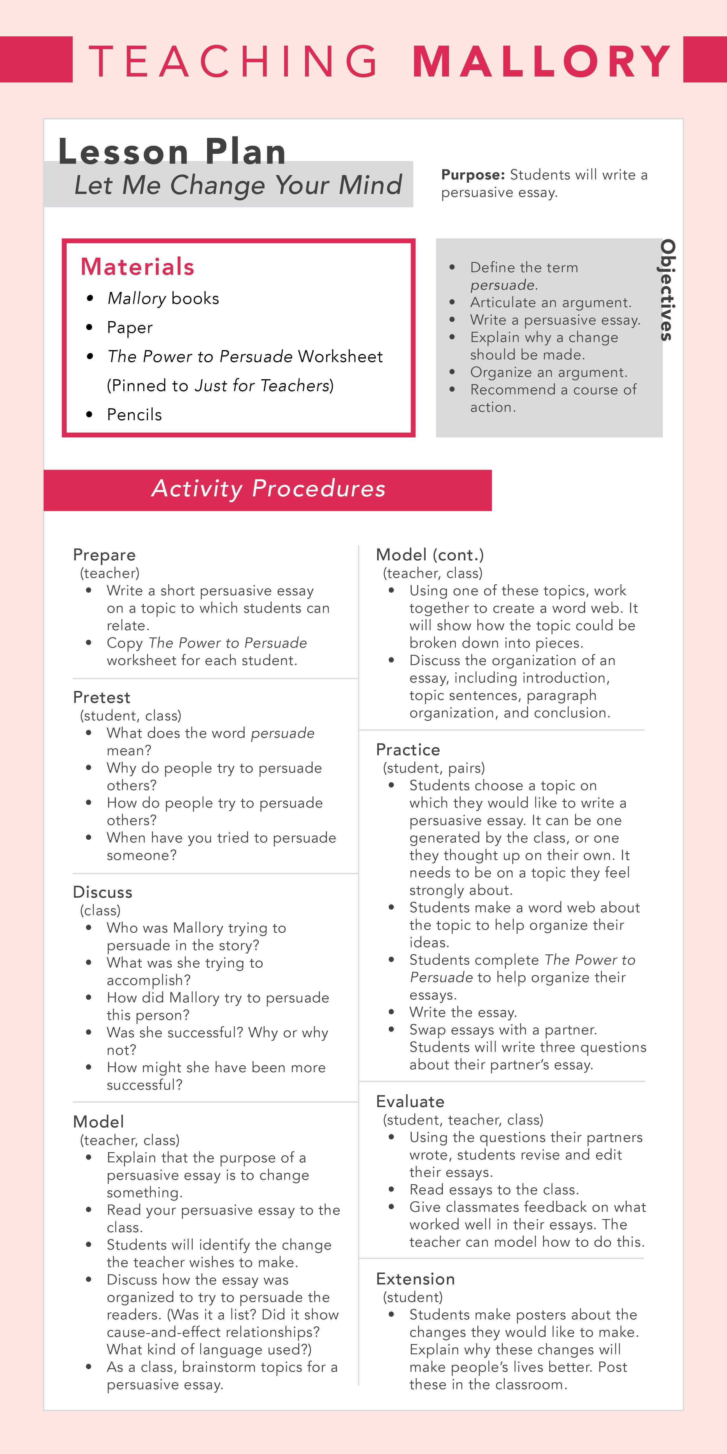 Teachingmallory 3rd Grade Teacher Lessonplan Note Don