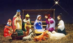 Vintage Outdoor Nativity Scene