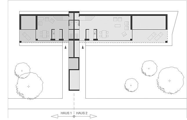 doppelwohnhaus in mischbauweise (holz, beton, lehm) in attnang oberösterreich. Passivhaus mit kontrolierter wohnungs be- und entlüftungsanlage, energy globe preisträger für nachhaltiges planen und bauen