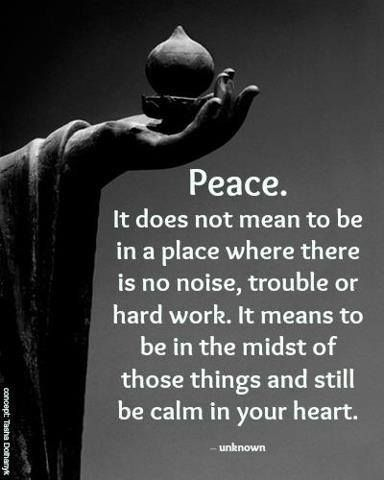 Peacein The Midst Of Chaos And Still Be Calm In Your Heart Life