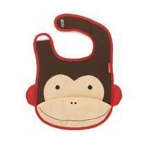Skip Hop Zoo Bibs Monkey slab met afbeelding van aap