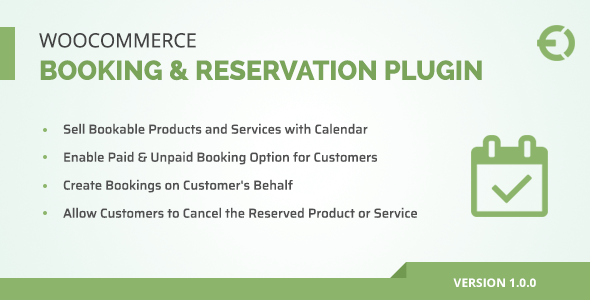 WooCommerce Booking & Reservation Plugin - #appointment