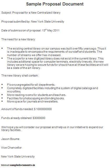 Sample Proposal Document Proposal Documents Pinterest Proposals - book proposal sample
