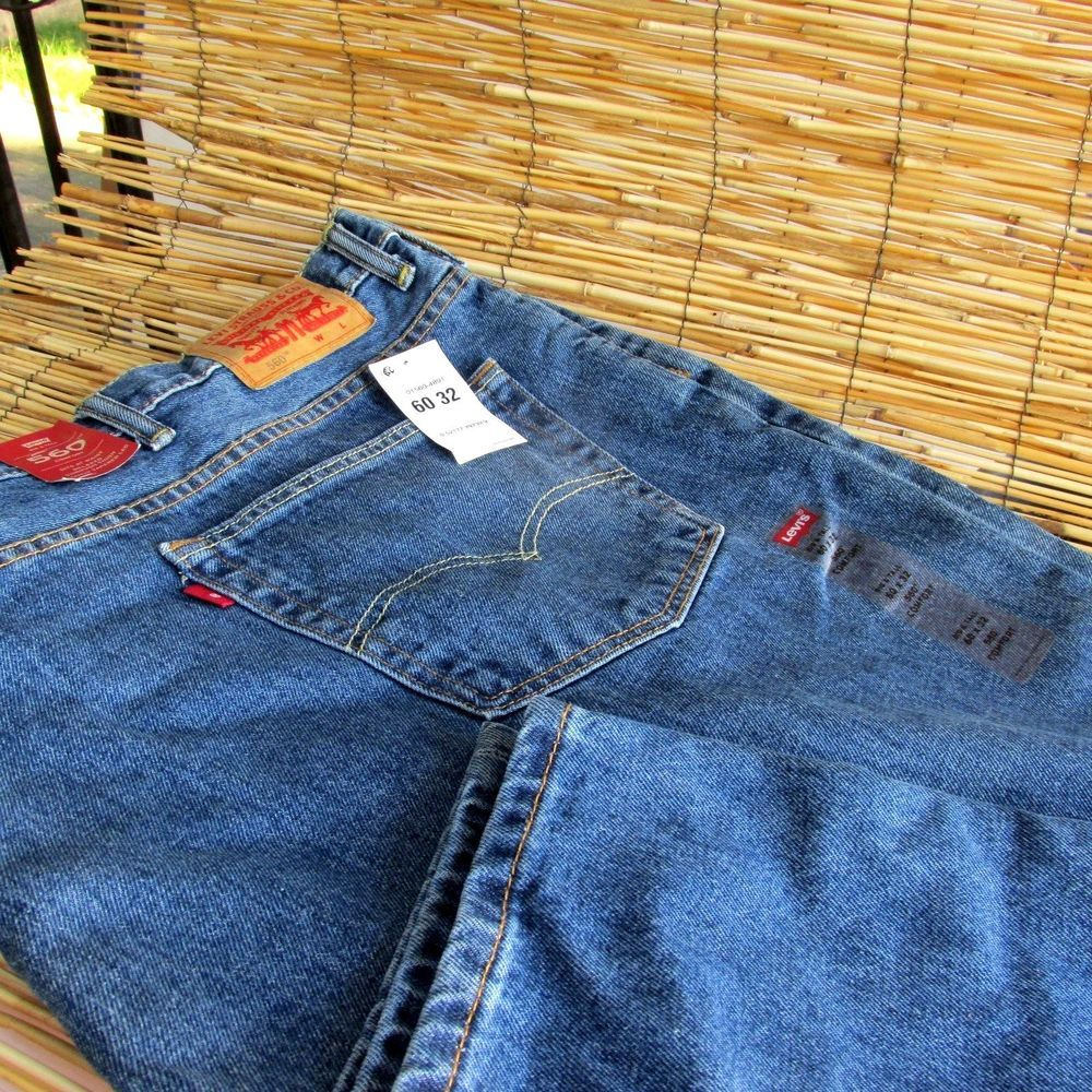 LEVIS 560 Big & Tall Mens Comfort Jeans 60 x 32 Zipper Fly Relaxed ...