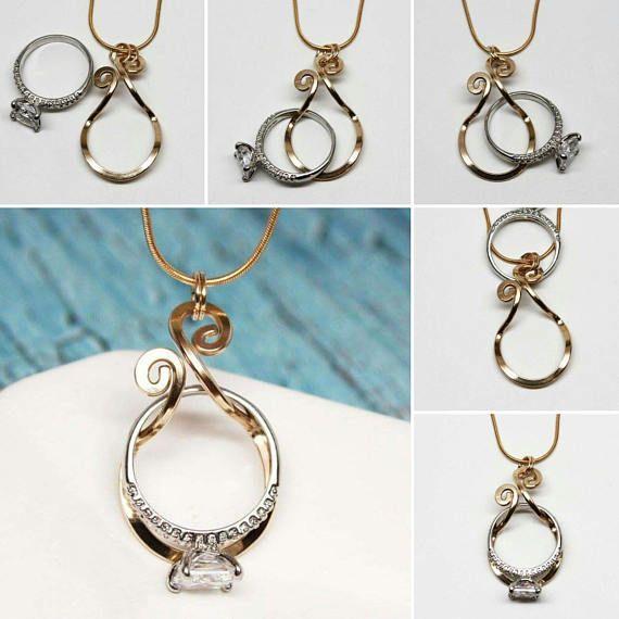 magic ring holder necklace wedding engagement ring