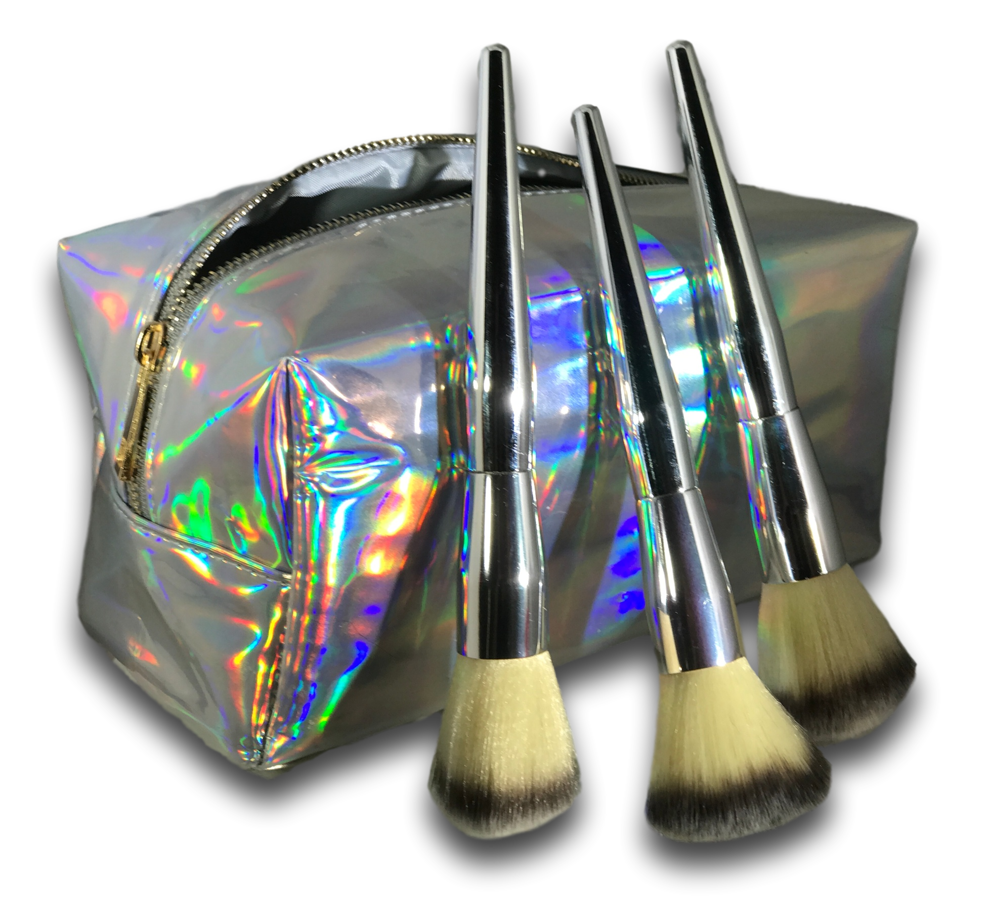 Carry your makeup in a Stunning New Holographic Bag