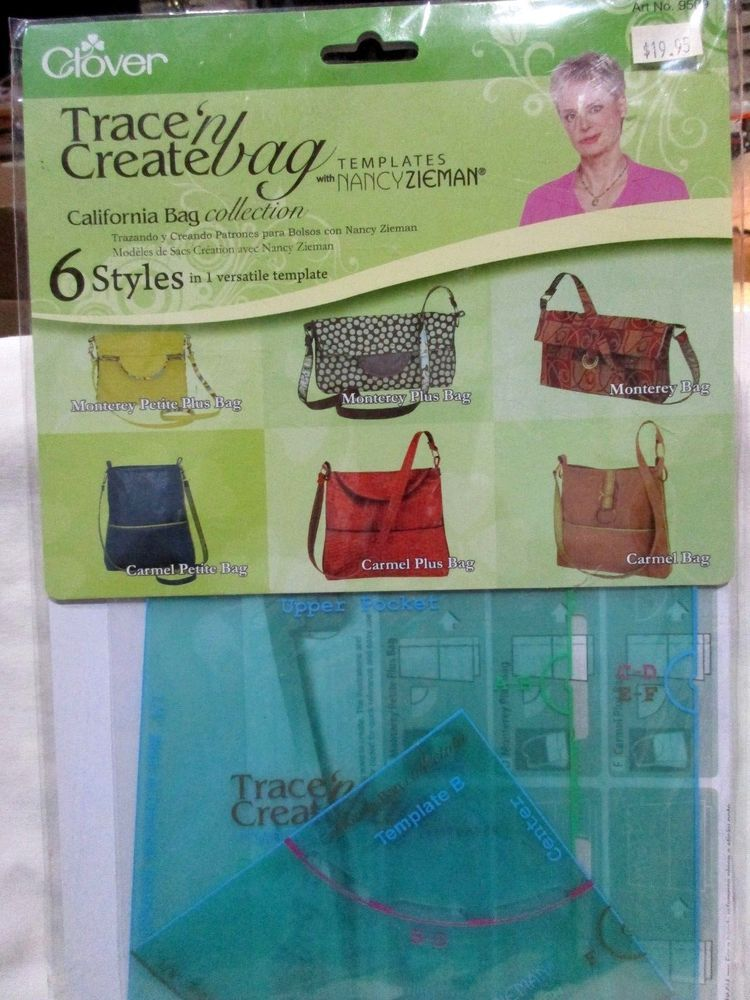Details about glover trace n create bag templates by nancy zieman glover trace n create bag templates by nancy zieman ca collection 6 styles glover maxwellsz