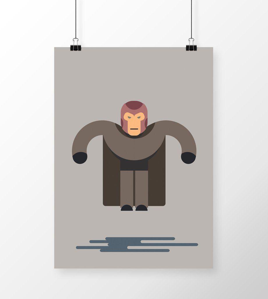 Poster Xmen - Magneto Flat (Cinema) em print