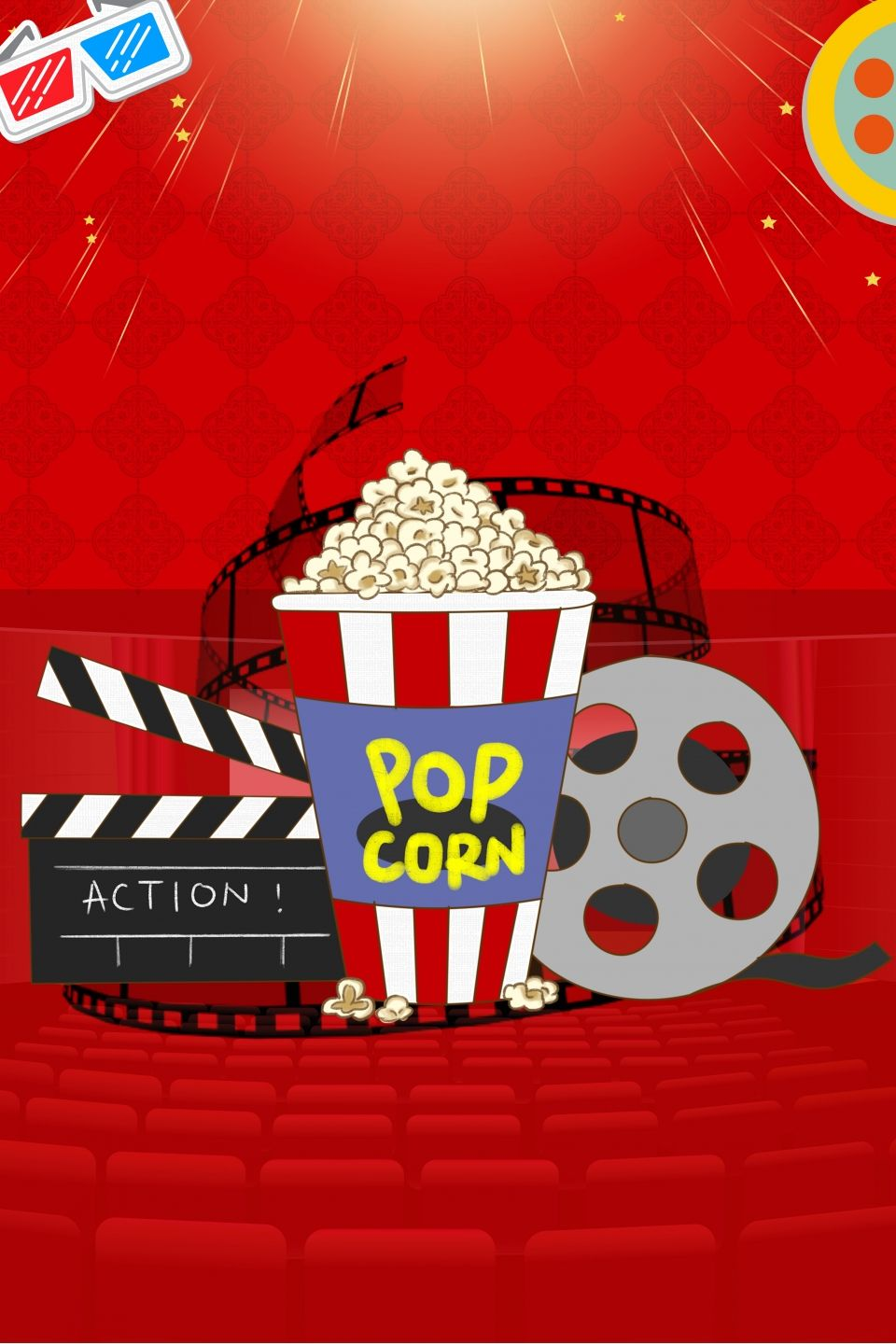 Red Creative Movie Poster Background Creative posters